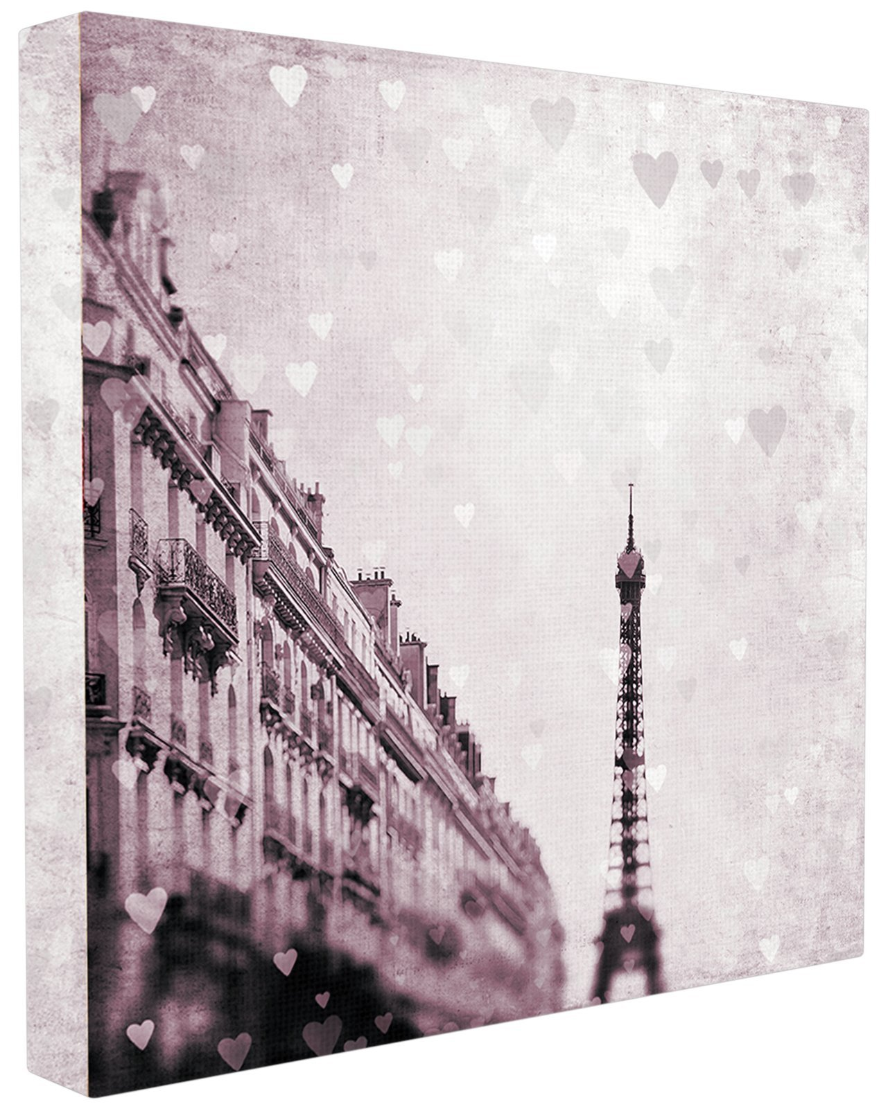 CDM product Stupell Home Décor Paris Heart Storm Stretched Canvas Wall Art, 17 x 1.5 x 17, Proudly Made in USA big image