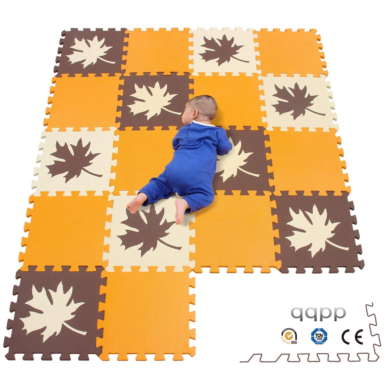 1 b18N 18 Piezas qqpp Alfombra Puzzle para Ni/ños Bebe Infantil QQP-27 Suelo de Goma EVA Suave 30*30*1cm Flor