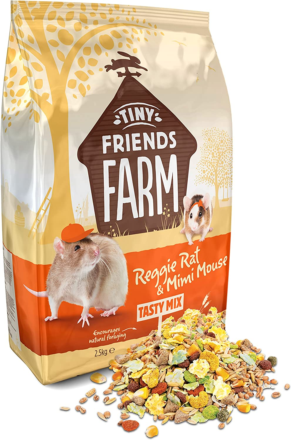 Supreme Tiny Friends Farm Reggie Rat and Mimi Mouse Tasty Mix 6lb