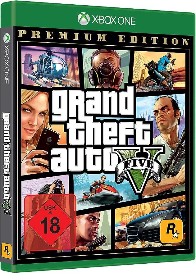 Grand Theft Auto V Premium Edition - Xbox One [Importación alemana]: Amazon.es: Videojuegos