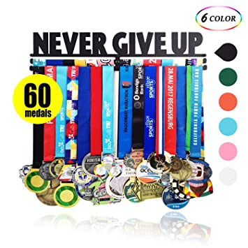 Amazon.com: Soporte para medallas de acero negro para 60 ...