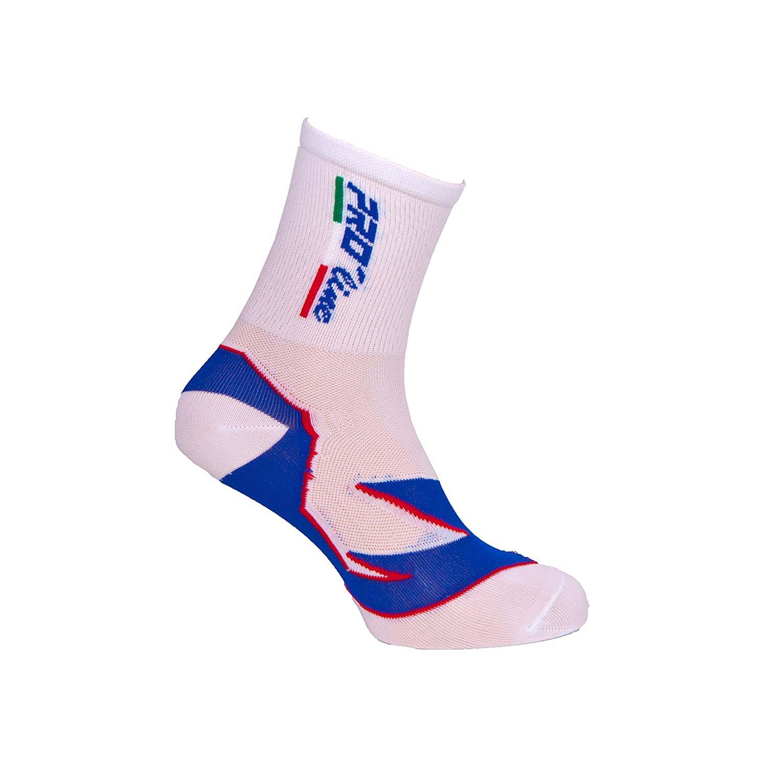 Calzini Ciclismo PROLINE White And Blue Cycling Socks 1 Paio One Size New Line