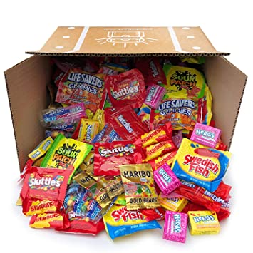 Snack Chest Assorted Candy Party Mix Bulk Twizzlers Nerds Swedish Fish Sour  Patch Skittles Starburst