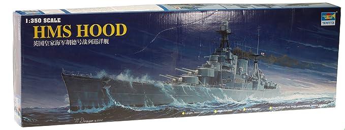 5334e85c25 Amazon.com  Trumpeter 1 350 Scale HMS Hood British Battleship  Toys ...