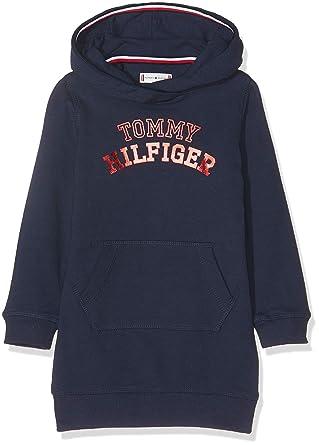 4aaa369848d Tommy Hilfiger Baby Girls' Essential Logo Hoodie Dress L/s Blue (Black Iris  002), 86: Amazon.co.uk: Clothing