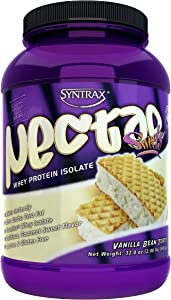 Syntrax Nectar Sweets, Native Grass-Fed Whey Protein Isolate, RBST-Free, Grass-Fed Whey, Mixes Instantly, Lactose & Gluten Free, Vanilla Bean Torte, 2.0 Pounds