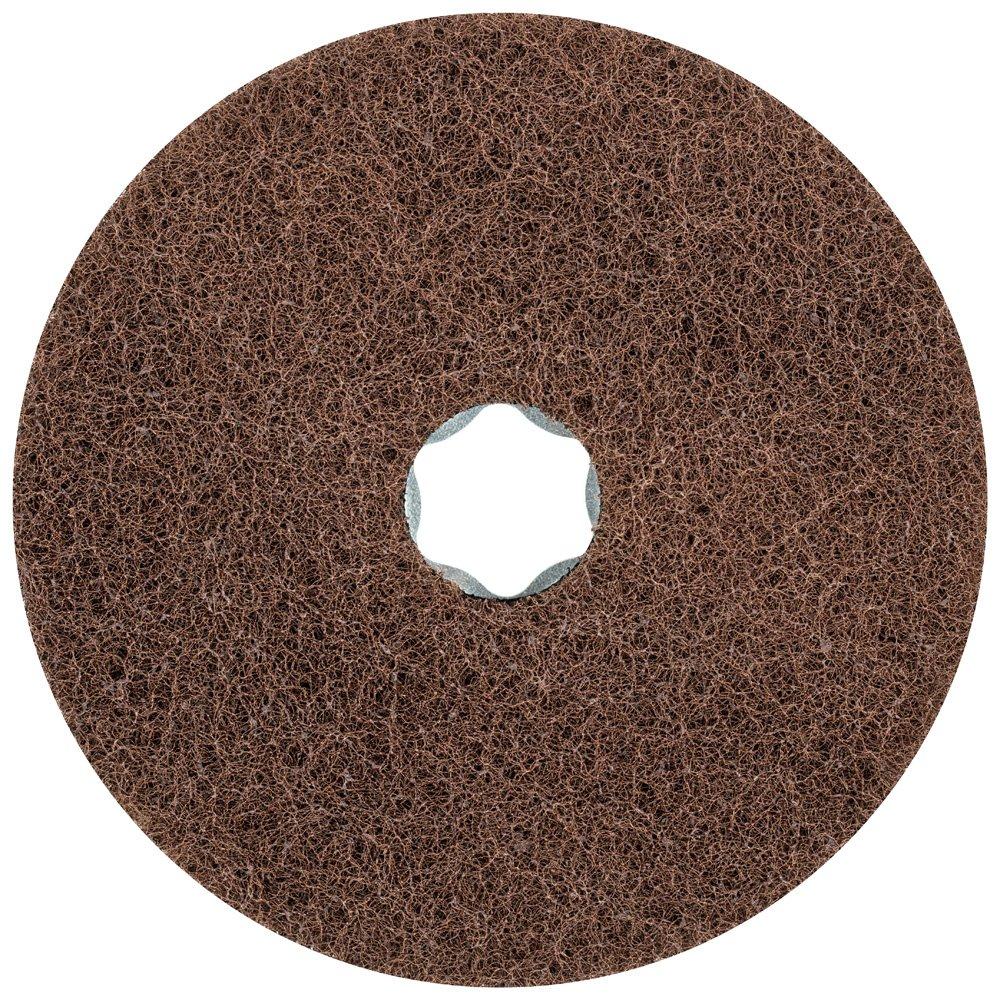 PFERD 48132 Combiclick Non-Woven Disc, Soft Type, 4-1/2'' Diameter, 10,500 RPM, Fine Grit (Pack of 10)