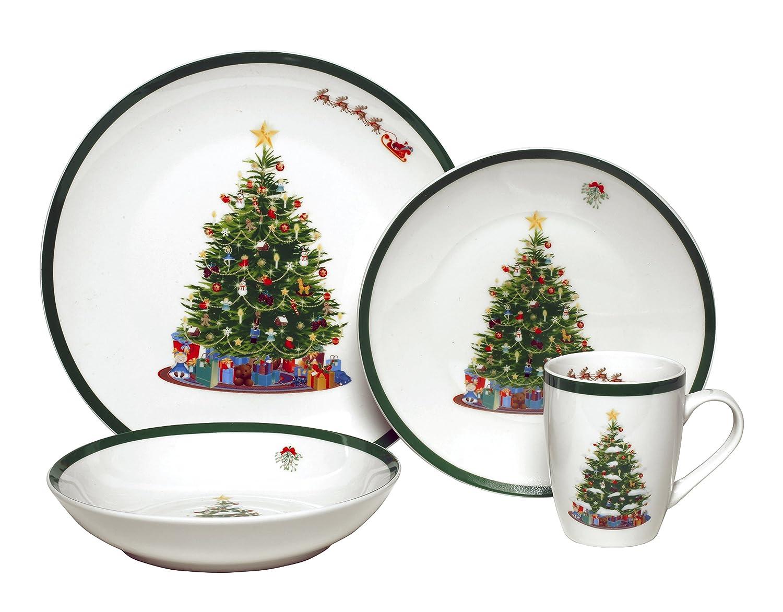 christmas trees dinnerware sets. Black Bedroom Furniture Sets. Home Design Ideas