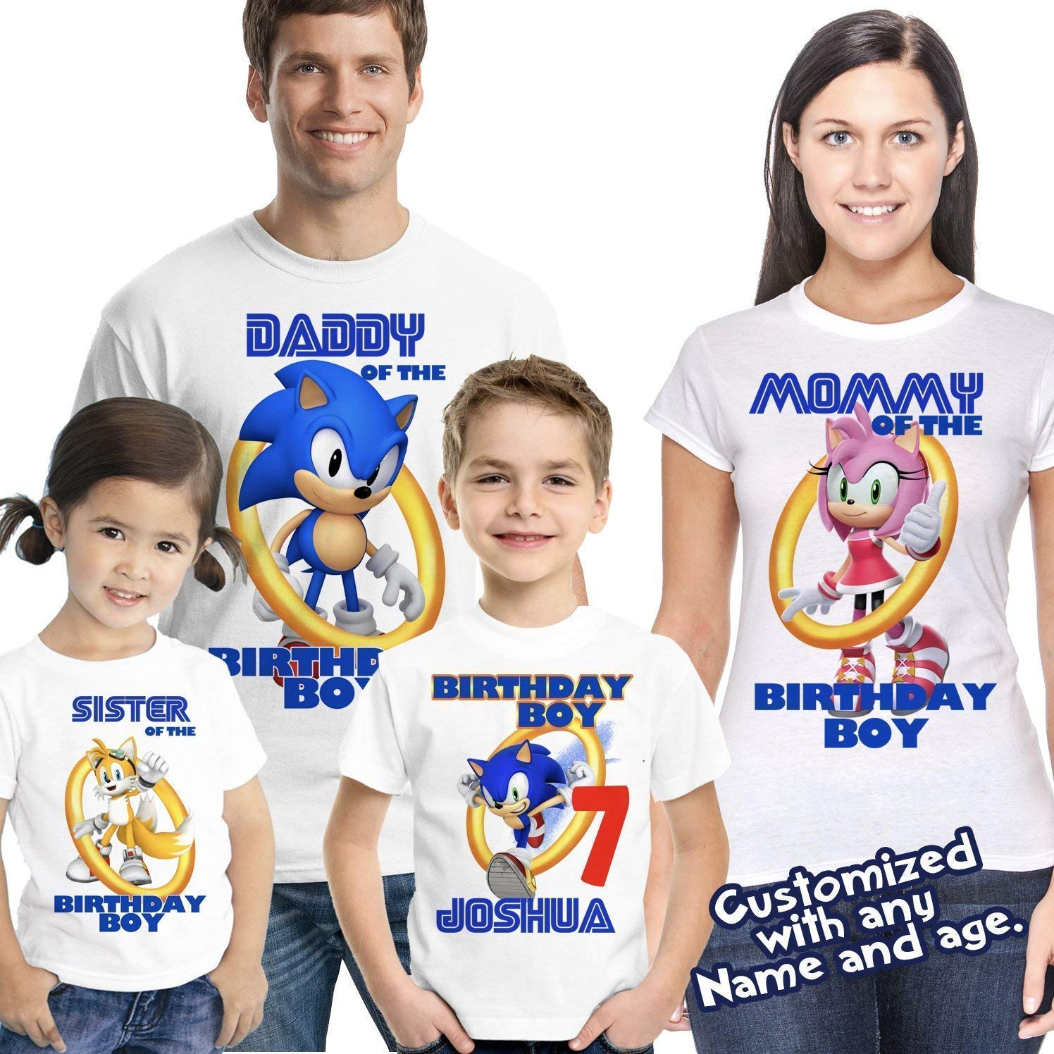Amazon Sonic Birthday Shirt The Hedgehog Custom Shirts For Family Personalized Party Handmade