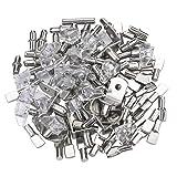 Sutemribor 100PCS Nickel Plated Shelf Bracket