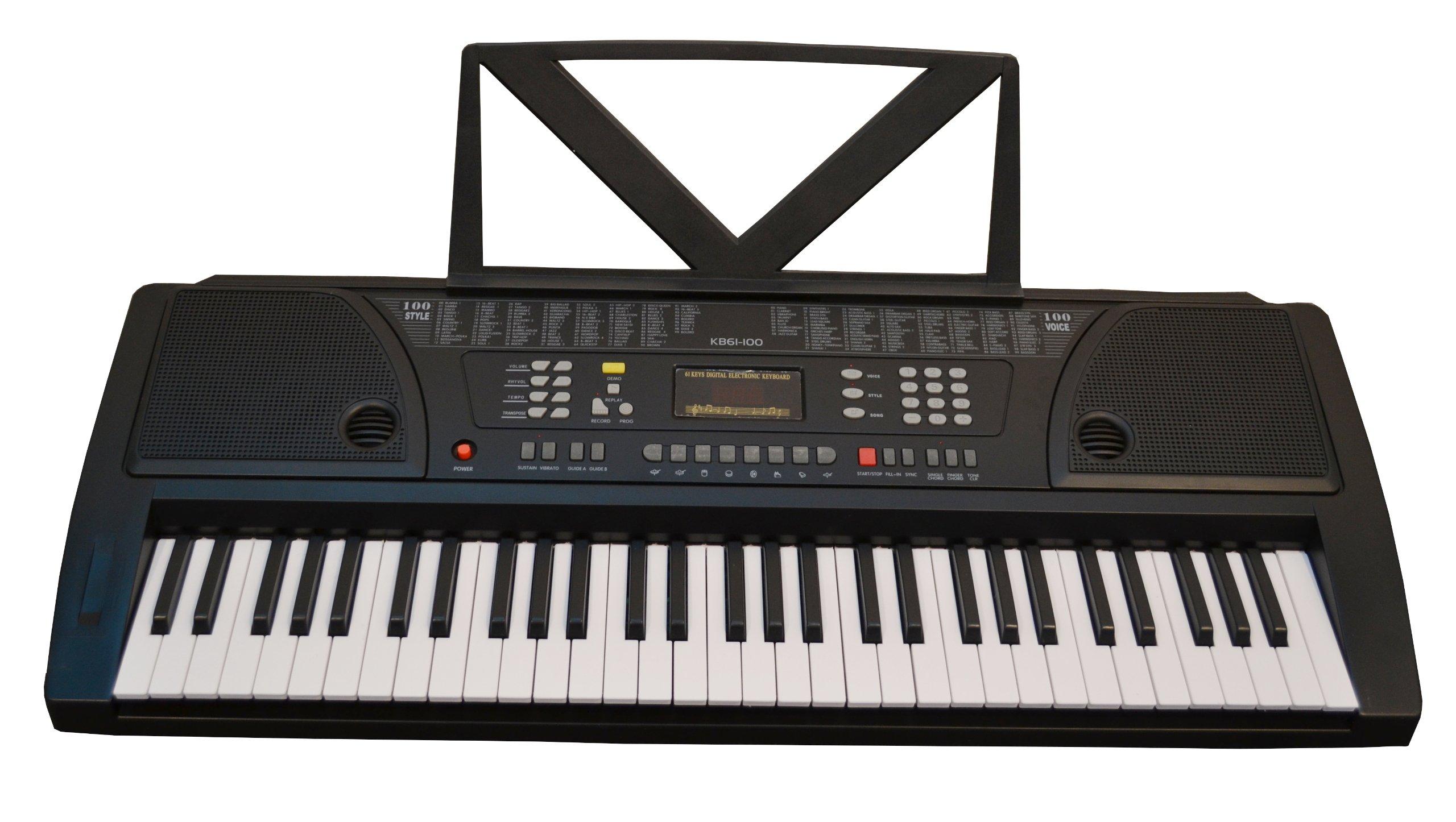 Huntington KB61 61-Key Portable Electronic Keyboard, Black by Huntington