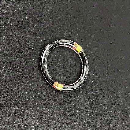 M Carbon Fiber Engine Start Stop Switch Button Frame Decal Cover Trim for BMW BMW 3 Series 5th E90 E91 E92 E93 2005-2013