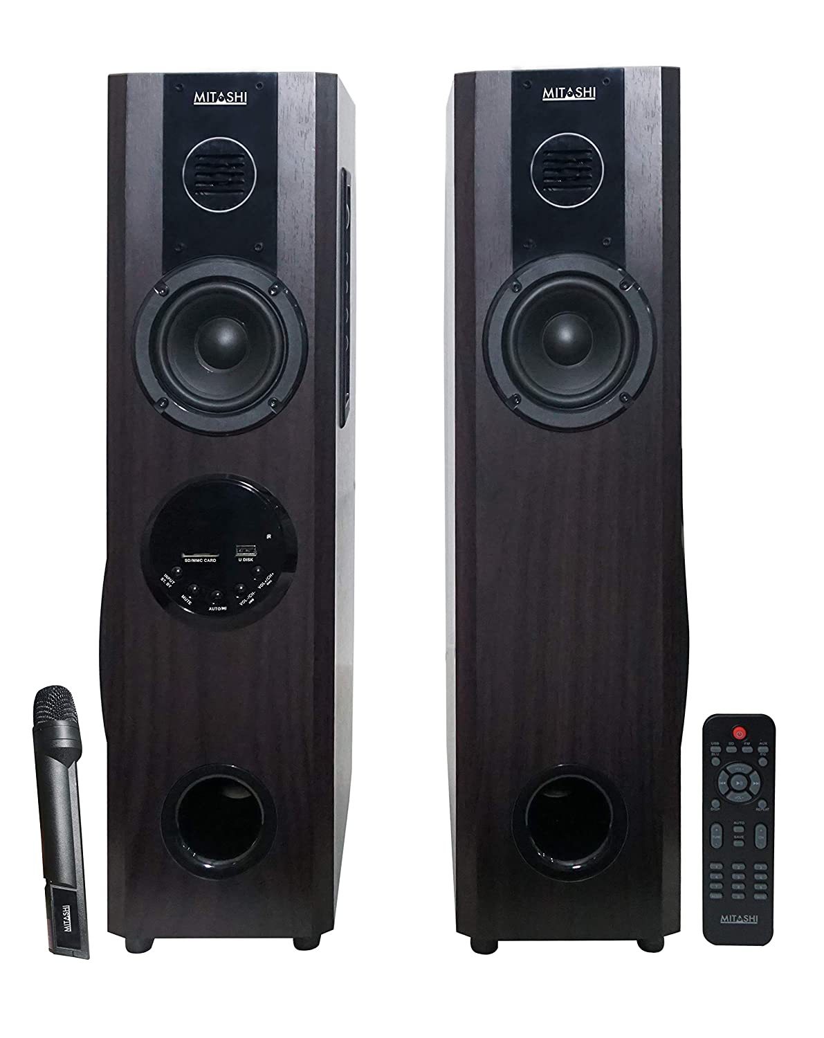 Mitashi TWR 60 Fur 2.0 Channel 5000 Watts PMPO Tower Speaker