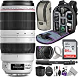 Canon EF 100-400mm f/4.5-5.6L is II USM Lens w/Advanced Photo and Travel Bundle - Includes: Altura Photo Backpack, UV-CPL-ND4, Monopod and SanDisk 64gb SD Card
