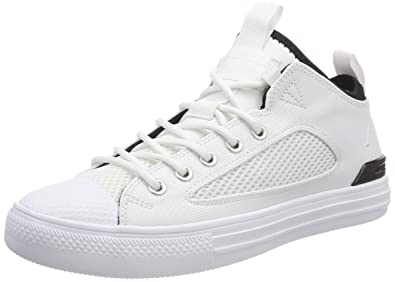 8b4ad180dea54 Converse Unisex Adults' CTAS Ultra Ox White/Black Hi-Top Trainers ...