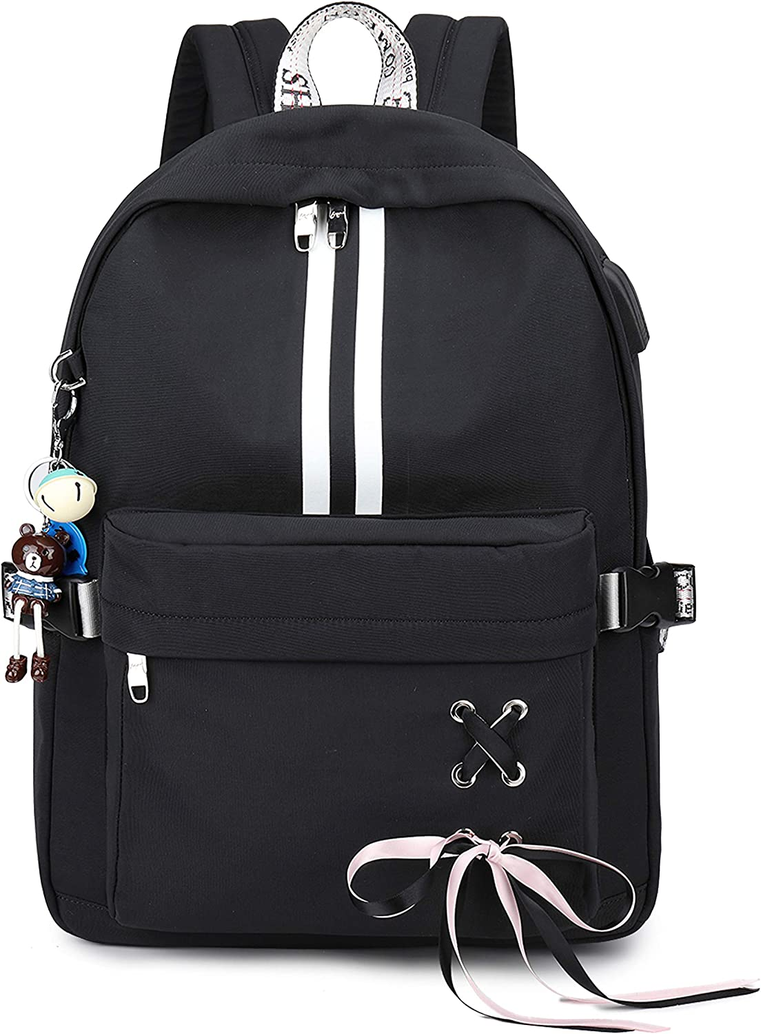 Backpacks for Girls School With Usb Charging Port 16 Inch Laptop Travel Daypack