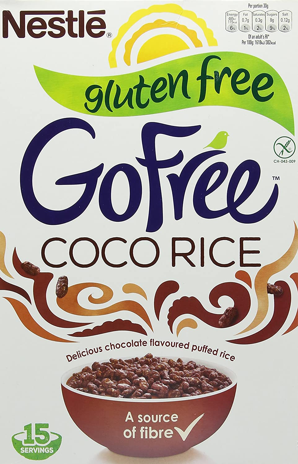 GoFree Nestlé Coco Rice Gluten Free Cereal, 460 g: Amazon co