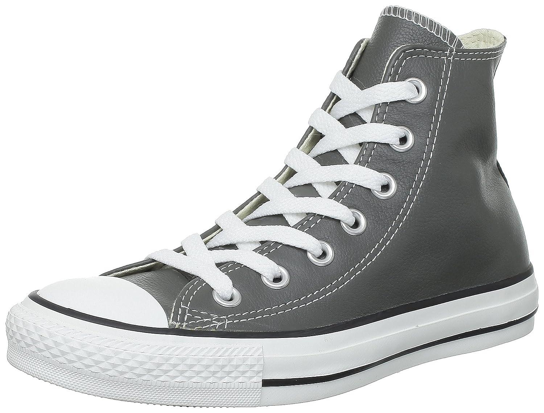 Converse Chucks Taylor All Star Hi Leder, Unisex - Erwachsene Sneaker  39 EU Grau (Anthrazit)