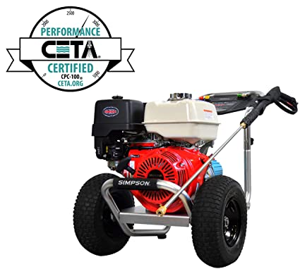 SIMPSON Cleaning ALH4240 Aluminum 4.0 GPM Gas Pressure Washer With Honda  GX390 OHV Engine, 4200