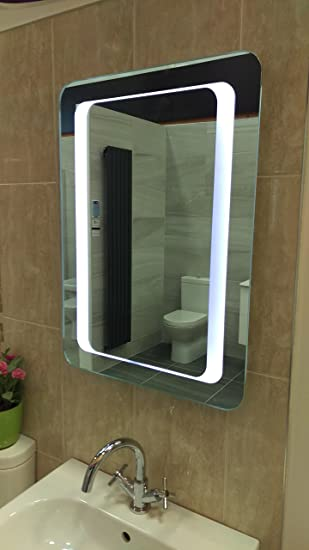 ID4 Intelligent Design LED Bathroom Mirror Battery Powered Eco Friendly Low Energy Rating A