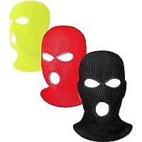Hicarer 3 Pasamontañas Envoltura de Cabeza Cubiertas Faciales de 3 Agujeros de Esquí de Punta de Deporte de Invierno al…