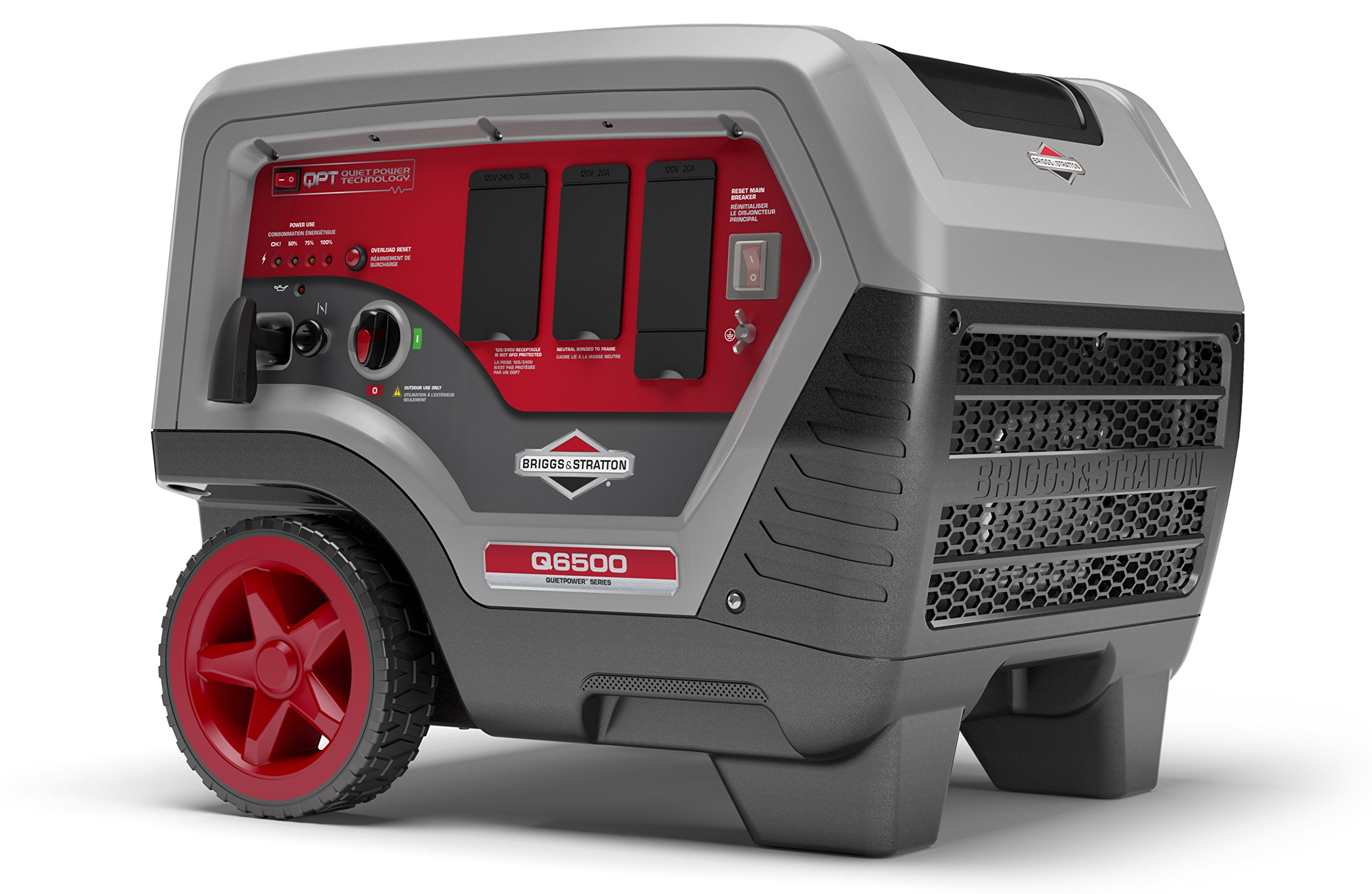 Briggs & Stratton Q6500 Inverter Generator - 6500 Starting Watts QuietPower Series Portable Generator for Home Backup