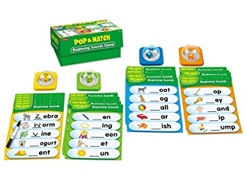 Amazon.com: Lakeshore Pop & Match Beginning Sounds Game Box: Toys ...