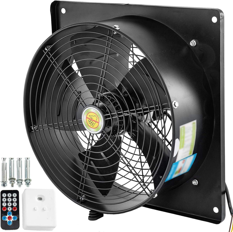 Mophorn Ventilador Axial 185 W Ventilador Industrial Extractor 1380 Rpm Extractor de Ventilación Ventilador de Escape con Controlador de Velocidad