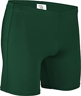 product image for NL-111-CB Men's and Women's Tight Fit, Dry Fitness Compression Short-Basketball, Aerobics, Football-Made with Moisture Wicking Odor Protection Fabric (Large, Forest Green)