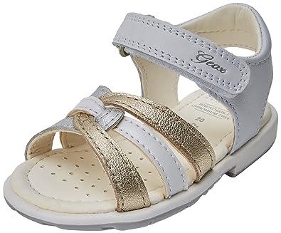 133acf007111 Geox Baby Girls' B VERRED C Sandals, (White/Gold C0232), 9 UK Child ...