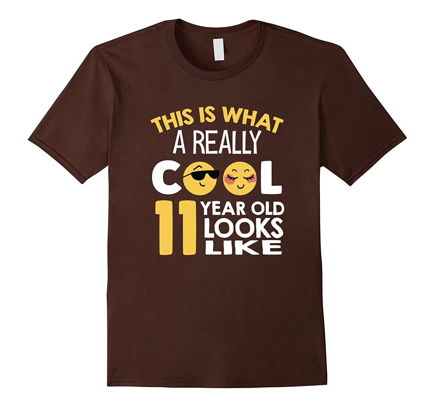 This Is What A Cool 11 Year Old Looks 11th Birthday T-Shirt-CL