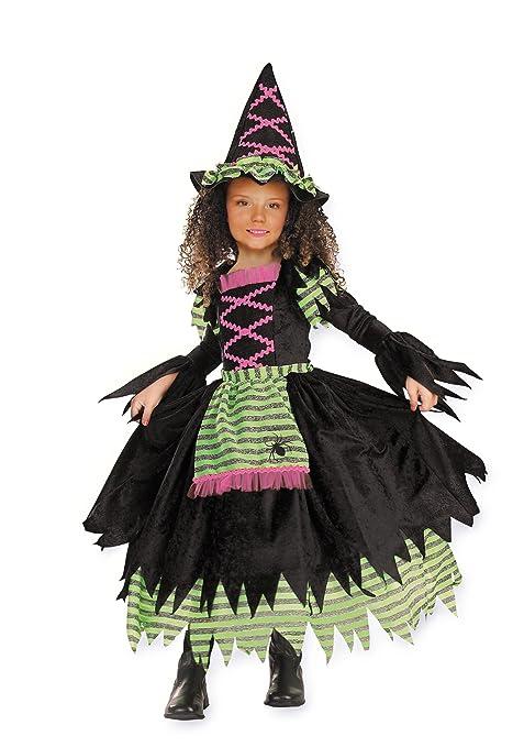 571146f788e0 Cesar Costume da strega in 2 pezzi (vestito e cappello), per bambino ...