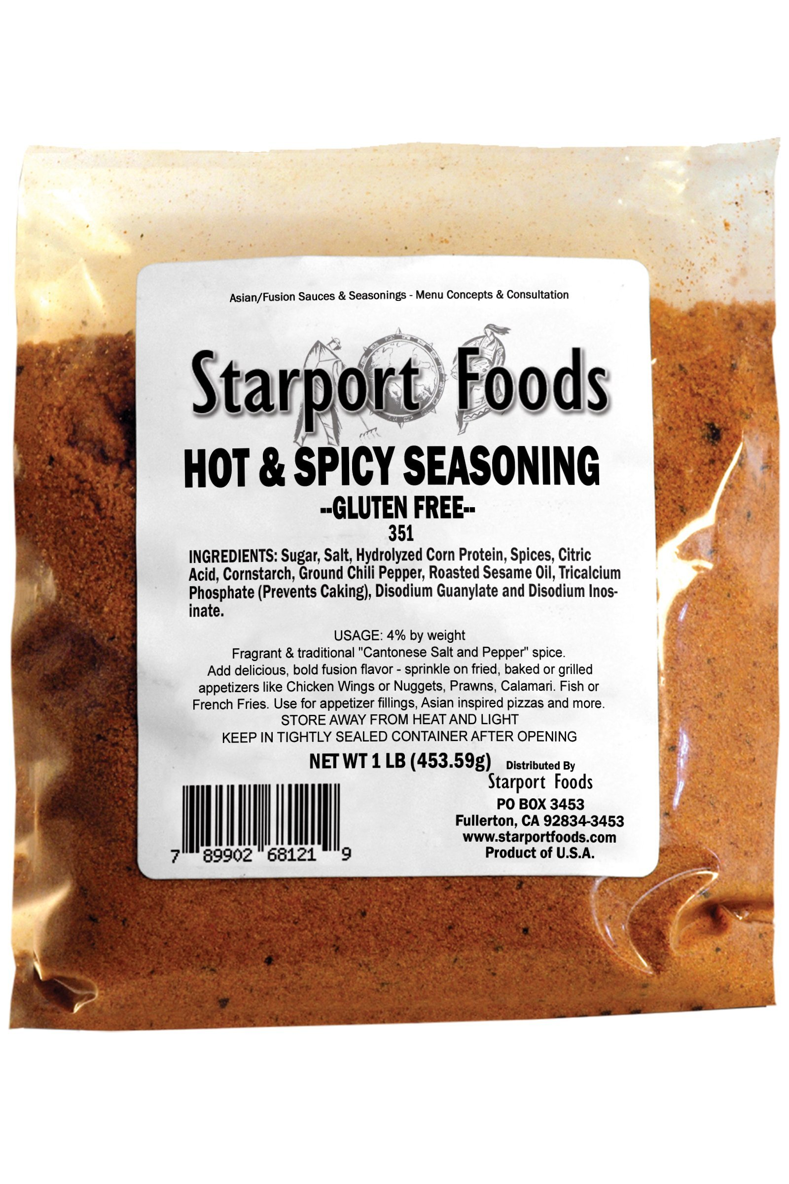 Starport Foods Hot and Spicy Seasoning - Gluten Free, 2 x 1 lb bag