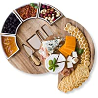 Cheese Board Set - Charcuterie Board Set and Cheese Serving Platter. US Patented 13 inch Meat/Cheese Cutting Board and…
