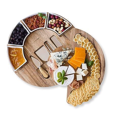 Amazon.com: Juego de tabla de cortar de queso, juego de ...