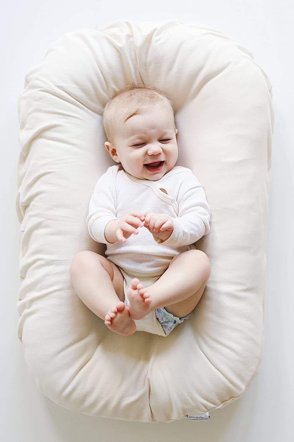 Snuggle Me Organic | The Original Baby Lounger, Infant Co-Sleeping Cushion, Portable Play Mat and Travel Bed for Newborn to 6 Months by Snuggle Me Organic: ...