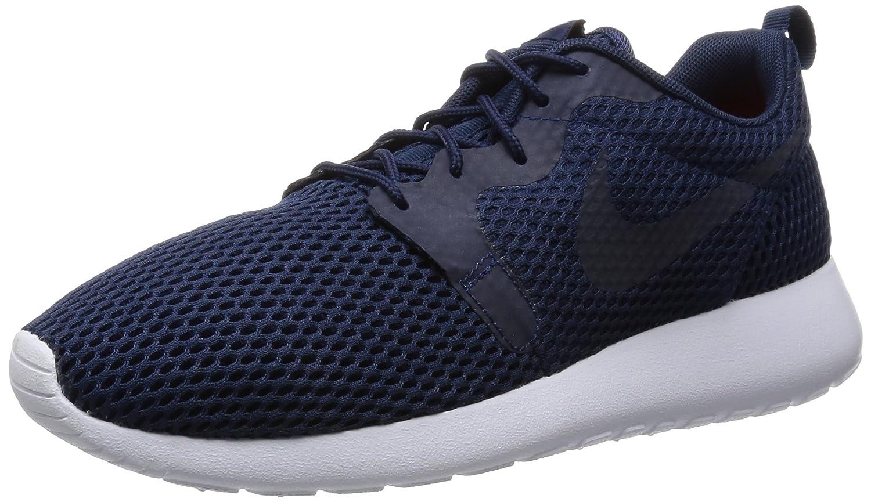 Nike Herren Roshe One HYP BR Turnschuhe  44 EU Azul (Midnight Navy / Mid Navy-white)
