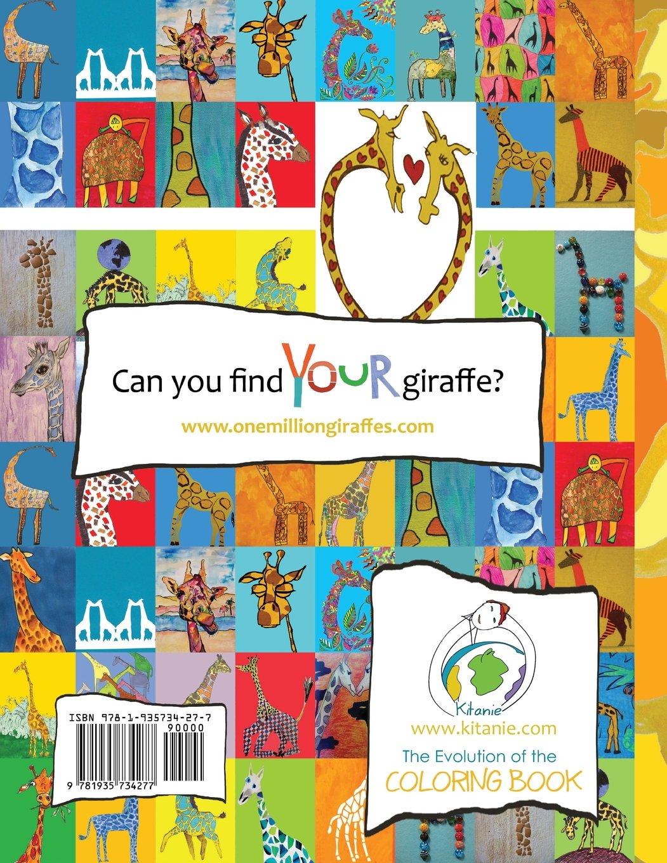 Amazon One Million Giraffes Coloring Book 8601423246635 Ola Helland Books
