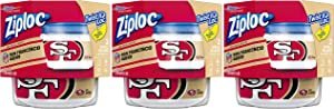 Ziploc Brand NFL San Francisco 49ers Twist 'n Loc Containers, Small, 2 ct, 3 Pack