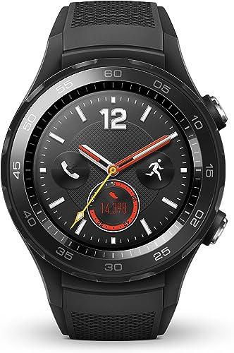Huawei Watch 2 Sport Bluetooth 4G LTE Factory Unlocked IP68 4GB Smartwatch Carbon Black – International Version