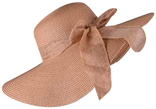 Foldable Straw Hat Wide Brim Summer Hats Floppy Sunhat Beach Hat for Women  Khaki at Amazon Women s Clothing store  0fa79afbb924