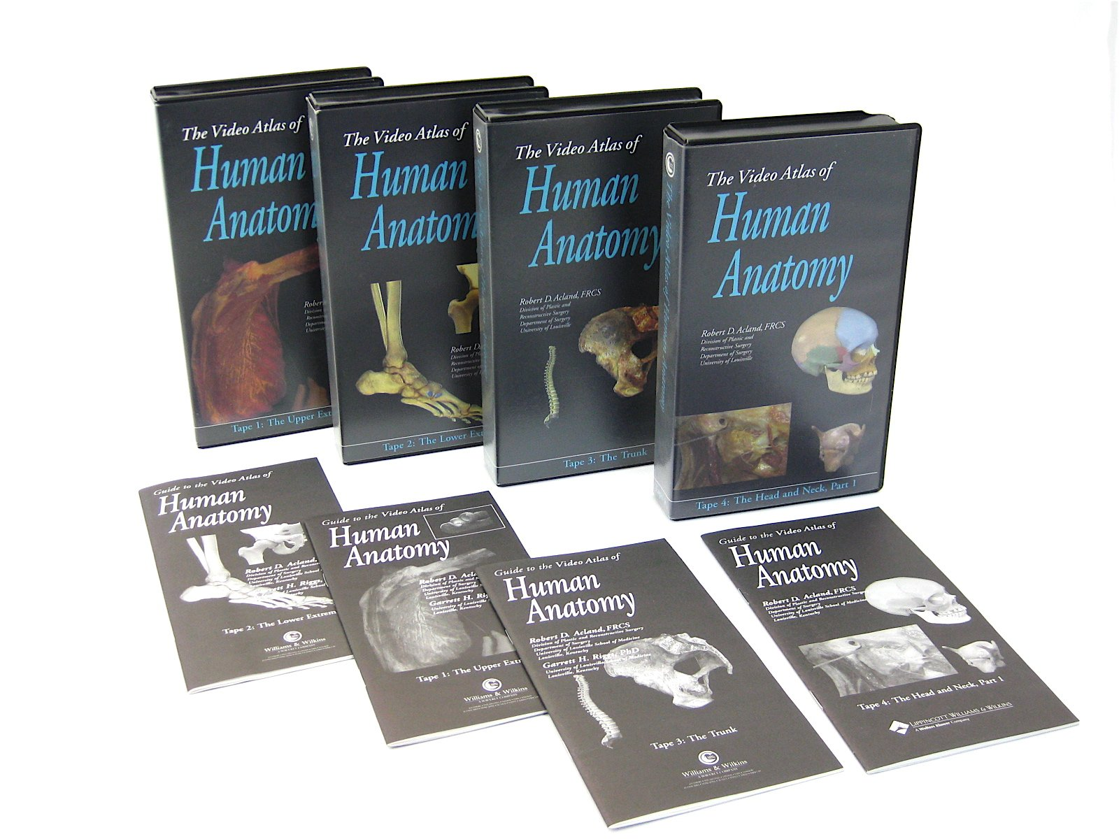 Video Atlas of Human Anatomy 4 Tape Set: Upper Extremity; Lower ...