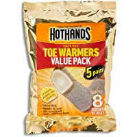 HOTHANDS ToastiToes Toe Warmers Pair Value Pack Air Activated Warmers Up to 8 Hours of Heat, 5 count