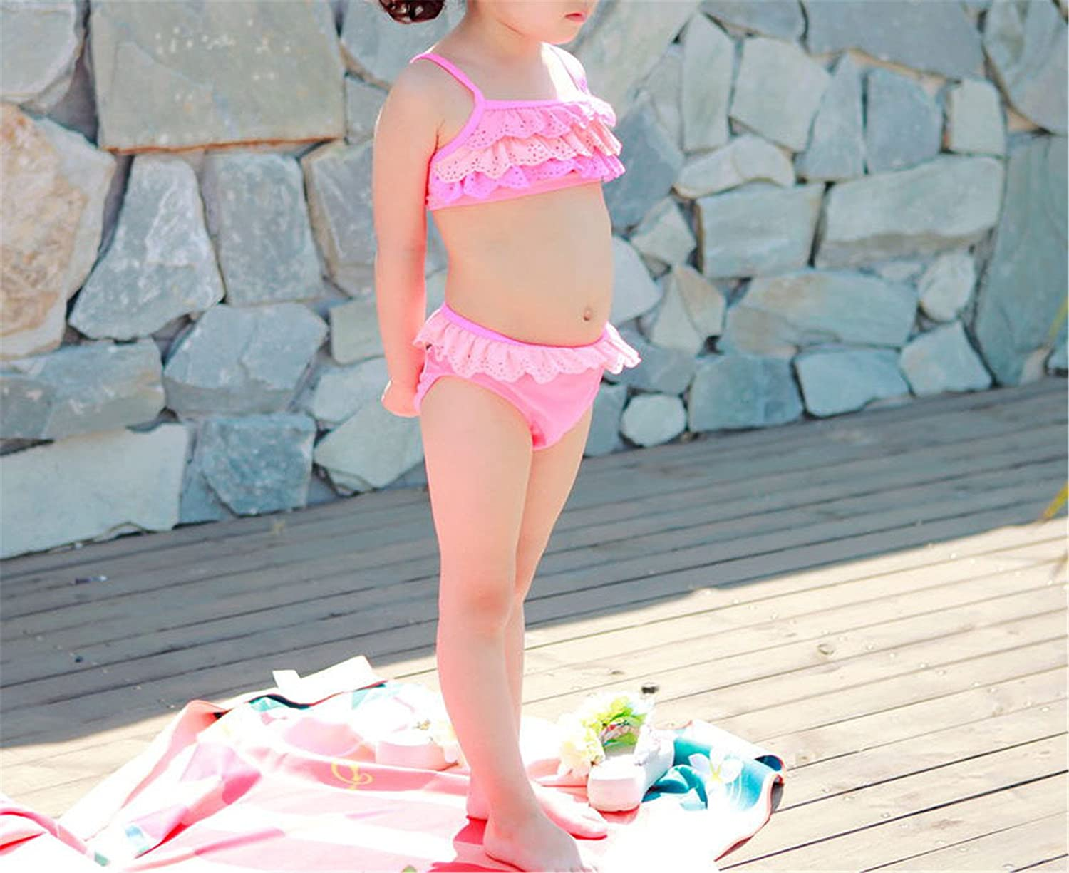Girl Kids Two-Piece Bikinis Sets with Ruffle Mermaid Tails Swimsuit for Beach