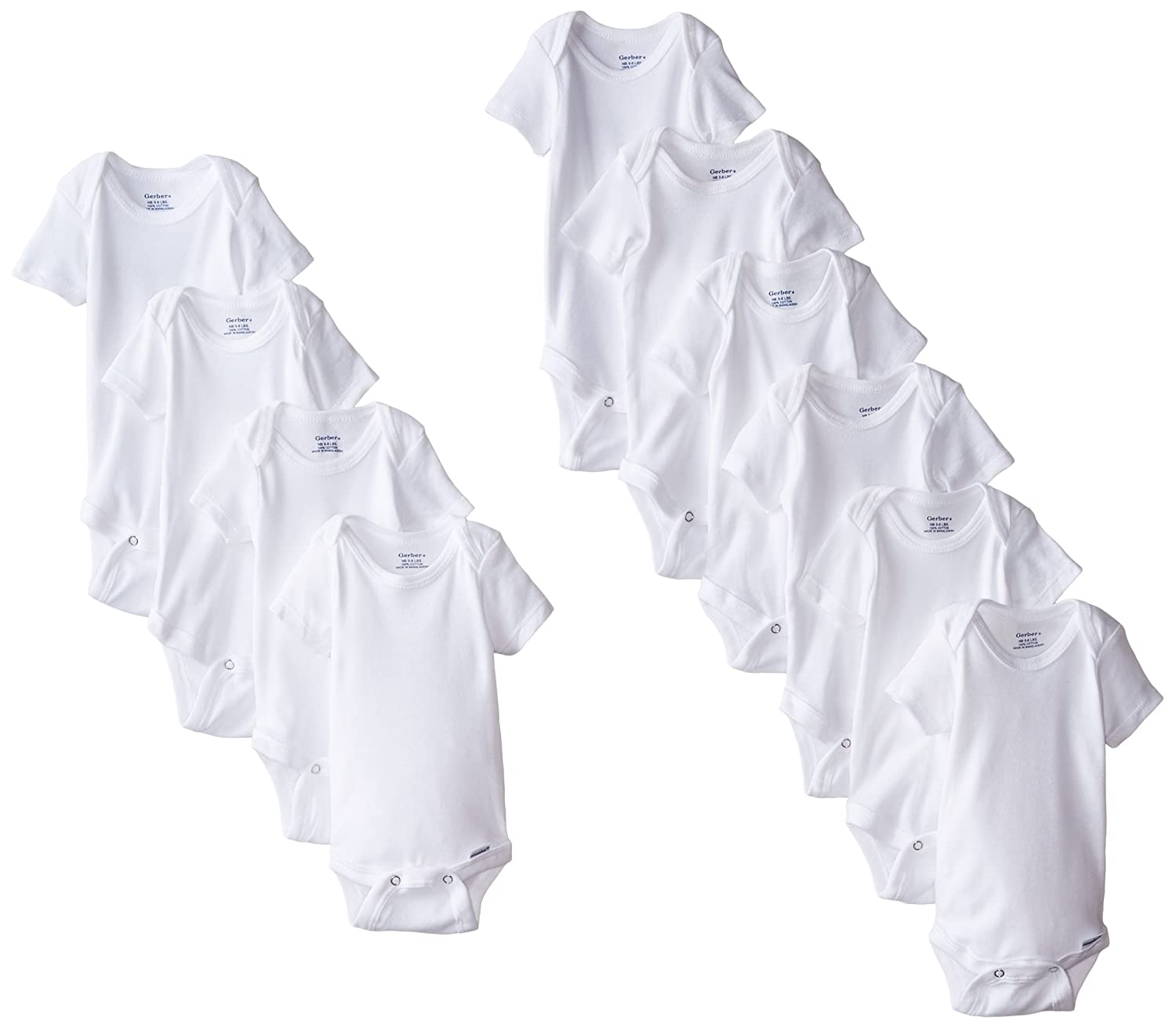 Gerber Unisex Baby 10 Piece Onesies Bundle Gerber Children' s Apparel 85366R16A100