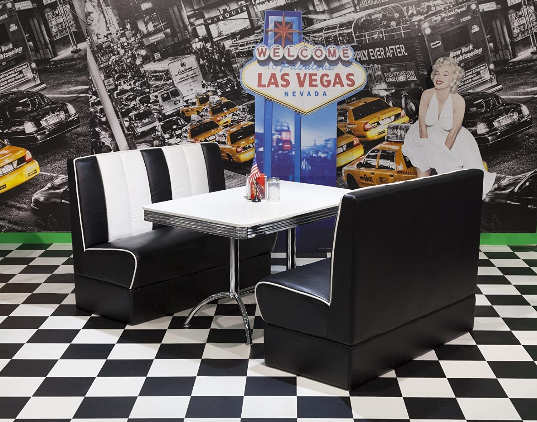 Bankgruppe American Diner Paul King4 3tlg in schwarz weiß