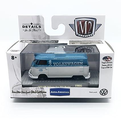 030552d737 Amazon.com  M2 Machines 1960 VW Delivery Van USA Model (Dove Blue ...