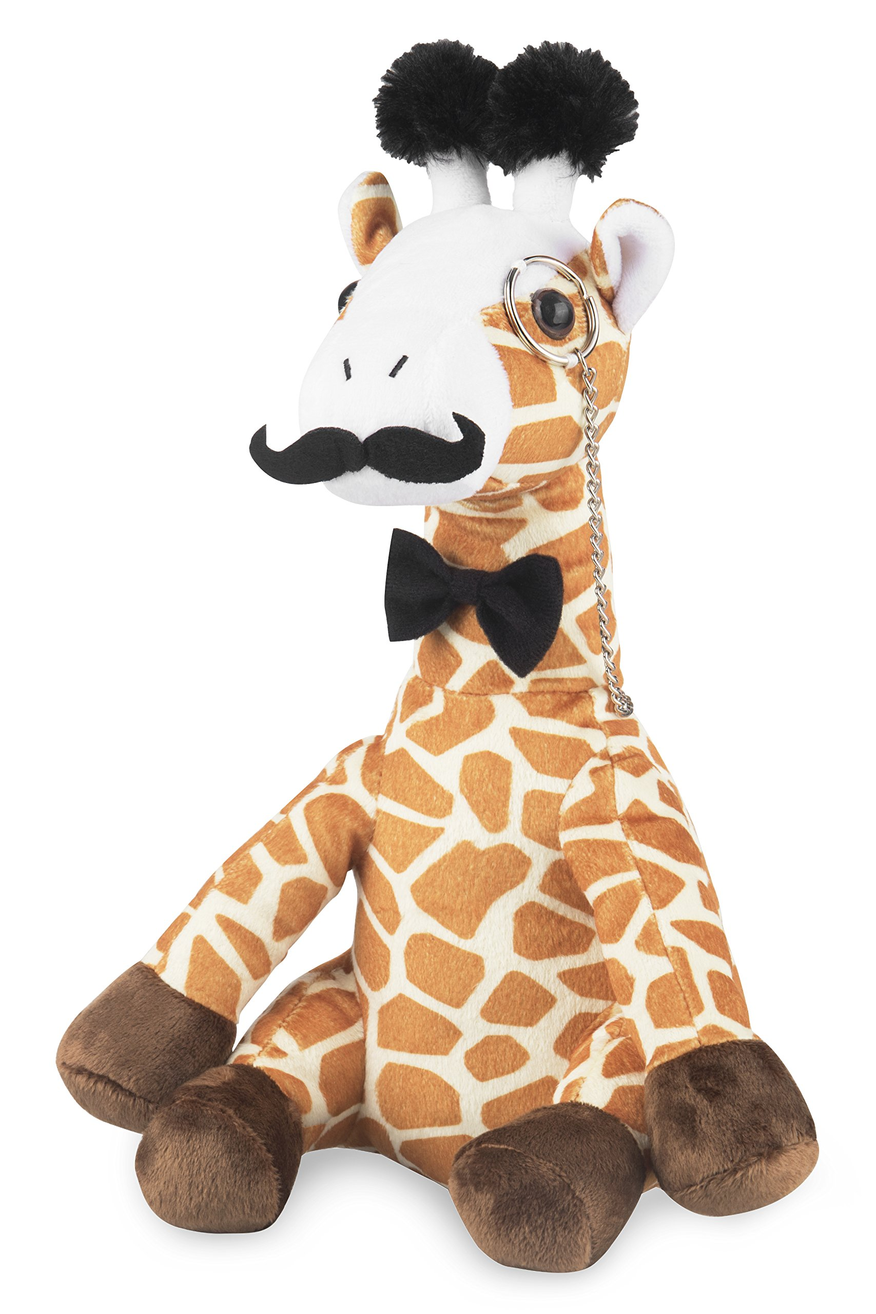Fancy Giraffe Plush Stuffed Animals: Cute & Funny Small Plushie Toy Animal with Mustache, Monocle & Bowtie for Babies, Children or Adults - Party Gift or Bedtime Toys for Boys & Girls - 14 Inches Tall by Kimler