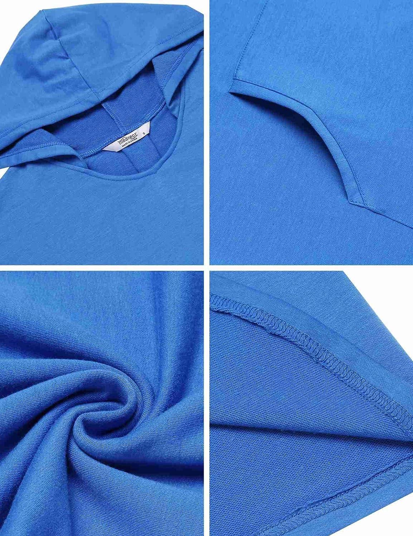 Yayado Women Casual Long Sleeve Tops Pullover Hooded Sweatshirt Tunic w//Pocket
