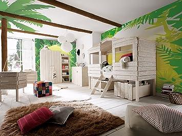 Kinderzimmer Safari | Massivum Kinderzimmer Set Safari Haus Weiss Holz 56 X 103 X 178 Cm